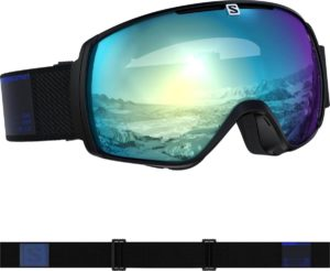 Salomon XT One Photo Sigma Goggles (Black/AW Sky Blue) 2019-20 at Northern Ski Works