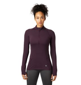Mountain Hardwear Women's Ghee Long Sleeve 1/4 Zip Top - Darkest Dawn 2019-20 at Northern Ski Works