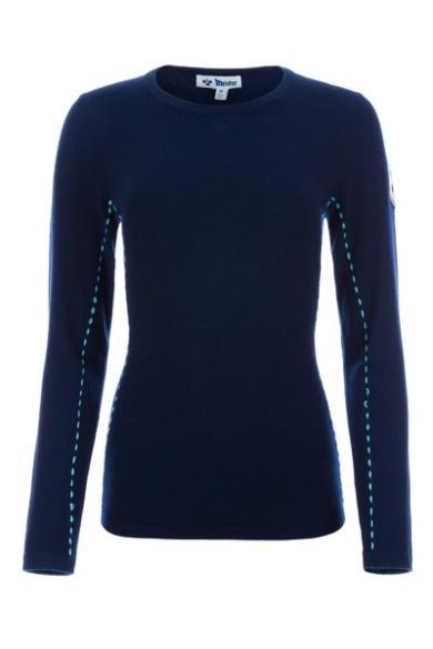Meister Women's Piste Sweater - Deep Navy/Aqua, Small 2020-21 at Northern Ski Works