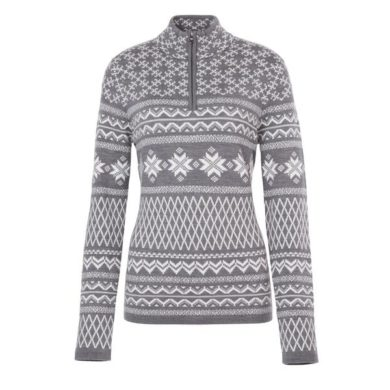 Meister Women's Grace Sweater - Heather Gray, Small 2020-21 at Northern Ski Works