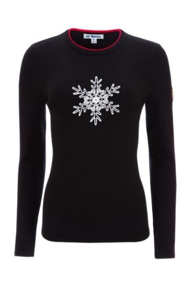 Meister Women's Noel Sweater - Black/Signal Red, Small 2020-21 at Northern Ski Works