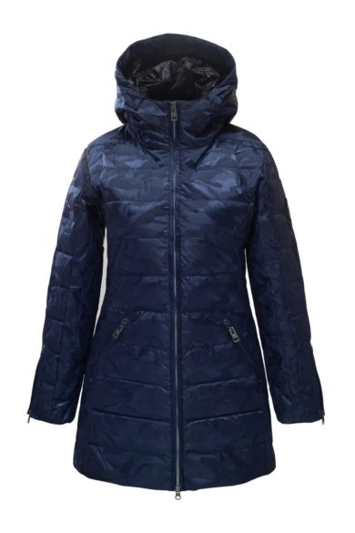 Skea Women's Annabelle Coat - Navy Leopard Jacquard, 6 2020-21 at Northern Ski Works