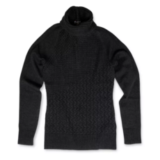 Smartwool Women's Dacono Ski Sweater - Black, Small 2020-21 at Northern Ski Works