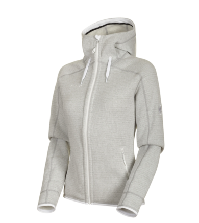 Mammut Women's Arctic ML Hooded Jacket - Bright White/Highway Melange, Small 2020-21 at Northern Ski Works