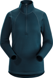 Arcteryx Women's Rho AR Zip Neck Top 2019-20 at Northern Ski Works 1
