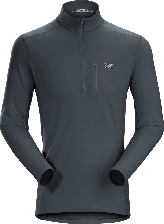 Arcteryx Men's Rho LT Zip Neck Top 2019-20 at Northern Ski Works