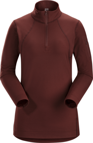 Arcteryx Women's Rho LT Zip Neck Top 2019-20 at Northern Ski Works