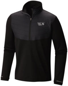 2019 Moutnain Hardwear Men's 32 Degree Insulated 1/2 Zip Top - Black 2019-20 at Northern Ski Works