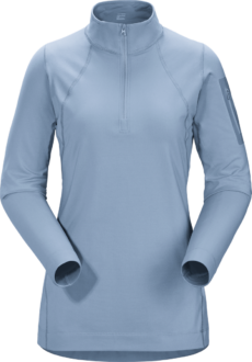 Arcteryx Women's Rho LT Zip Neck Top - Zephyr, Small 2020-21 at Northern Ski Works