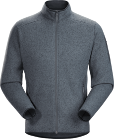 Arcteryx Men's Covert Cardigan - Cinder Heather, Medium 2020-21 at Northern Ski Works