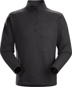 Arcteryx Men's Covert LT 1/2 Zip Top - Black Heather, Medium 2020-21 at Northern Ski Works