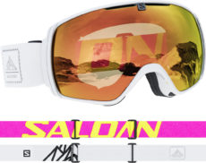 Salomon XT One Photo Sigma White QST Goggles - White/Photo Sigma Poppy Red 2020-21 at Northern Ski Works