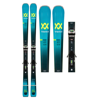 Volkl Deacon 84 Skis + Lowride XL 13 FR Demo GW Bindings 2021 2020-21 at Northern Ski Works