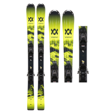 Volkl Deacon Jr VMotion Skis + 7.0 VMotion Jr R Bindings 2021 2020-21 at Northern Ski Works