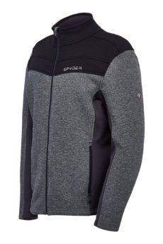 Spyder Men's Encore Full Zip Jacket - Black Ebony, Medium 2020-21 at Northern Ski Works