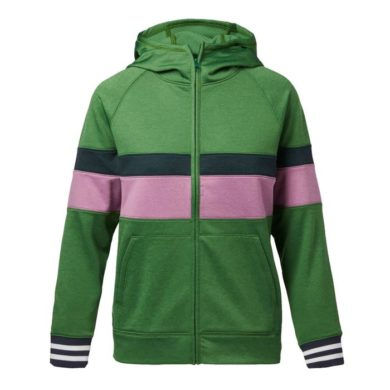Cotopaxi Women's Bandera Hooded Full-Zip - Avocado Stripes, Small at Northern Ski Works