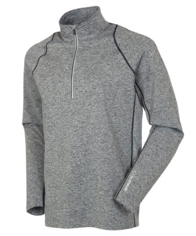 Sunice Men's Tobey Pullover With Reflective Tape - Charcoal Melange/Black, Medium 2020-21 at Northern Ski Works