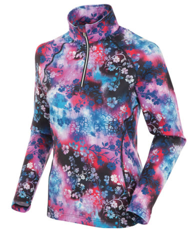 Sunice Women's Ski Lodge Half-Zip  Pullover - Floral Pink Passion, Small 2020-21 at Northern Ski Works
