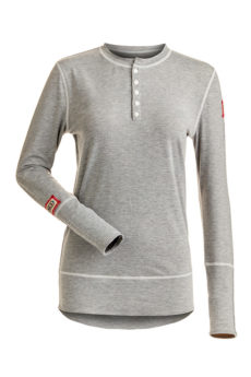 Nils Women's Sharon Body Zone 0 Heather 1/4 Zip Base Layer Top - Silver Heather, Small 2020-21 at Northern Ski Works