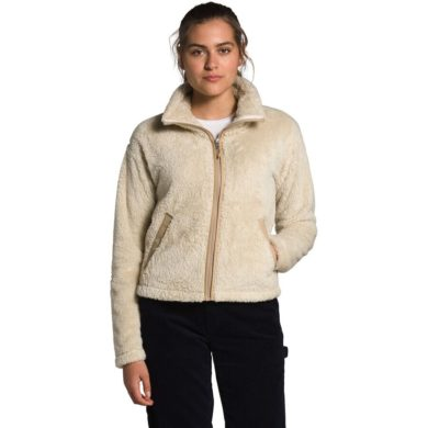 The North Face Women's Furry Fleece 2.0 Jacket - Bleached Sand/Hawthorn, Small 2020-21 at Northern Ski Works