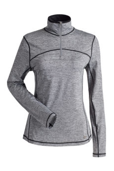 Nils Women's Sienna Body Zone 1 1/4 Zip Base Layer Top - Heather, Small 2020-21 at Northern Ski Works
