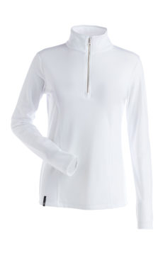 Nils Women's Robin Body Zone II 1/4 Zip Base Layer Top - White, Small 2020-21 at Northern Ski Works