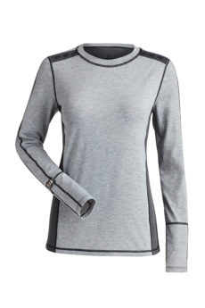 Nils Women's Presley Body Zone 0 Base Layer Top - Silver/Charcoal, Small 2020-21 at Northern Ski Works