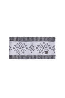 Nils Women's Snowflake Headband - White/Silver Metallic Marled 2020-21 at Northern Ski Works