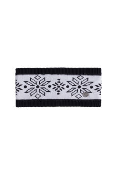 Nils Women's Snowflake Headband - White/Black Marled 2020-21 at Northern Ski Works