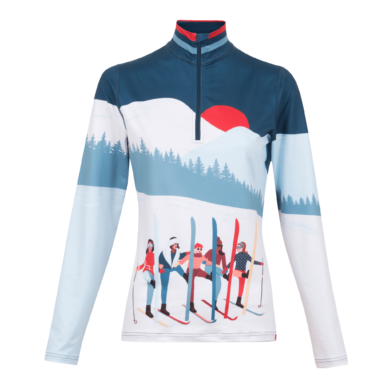 Krimson Klover Amiche 1/4 Zip Mid-Weight Base Layer Top - Edgewater, Small 2020-21 at Northern Ski Works