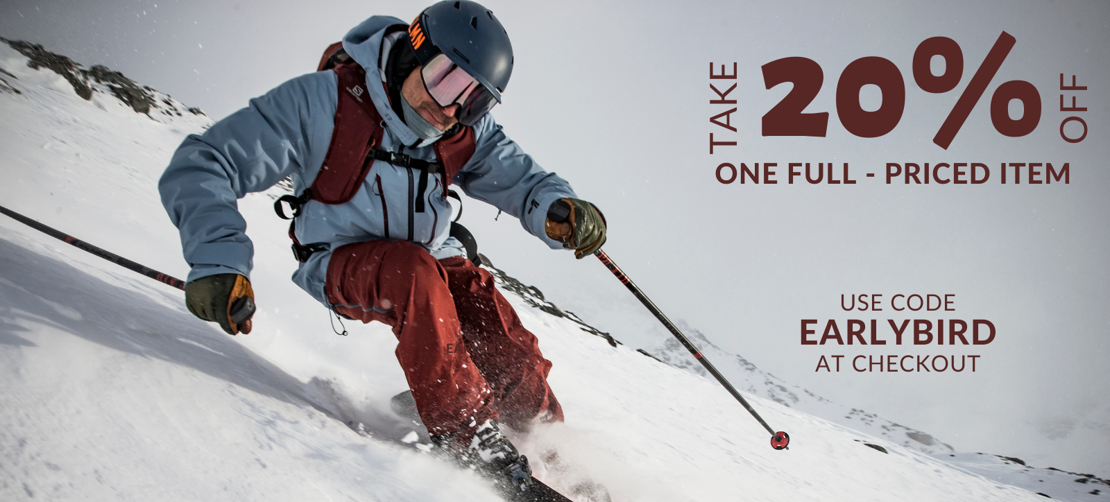 Make your own Black Friday Sale - 20% off one full-priced item at northernskiworks.com