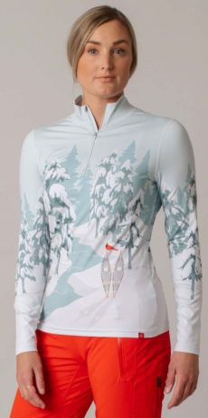 Krimson Klover Whiteout 1/4 Zip Mid Weight Base Layer Top - Spearmint, Small at Northern Ski Works